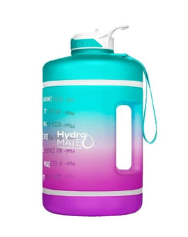 Motivational Gallon Straw Water Bottle (Turquoise Purple)
