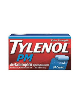 Tylenol PM Extra Strenght Pain Reliever / Nighttime Sleep-Aid Caplets, 24 ct