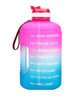 Motivational Gallon Straw Water bottle  (Pink/Blue Gradient)