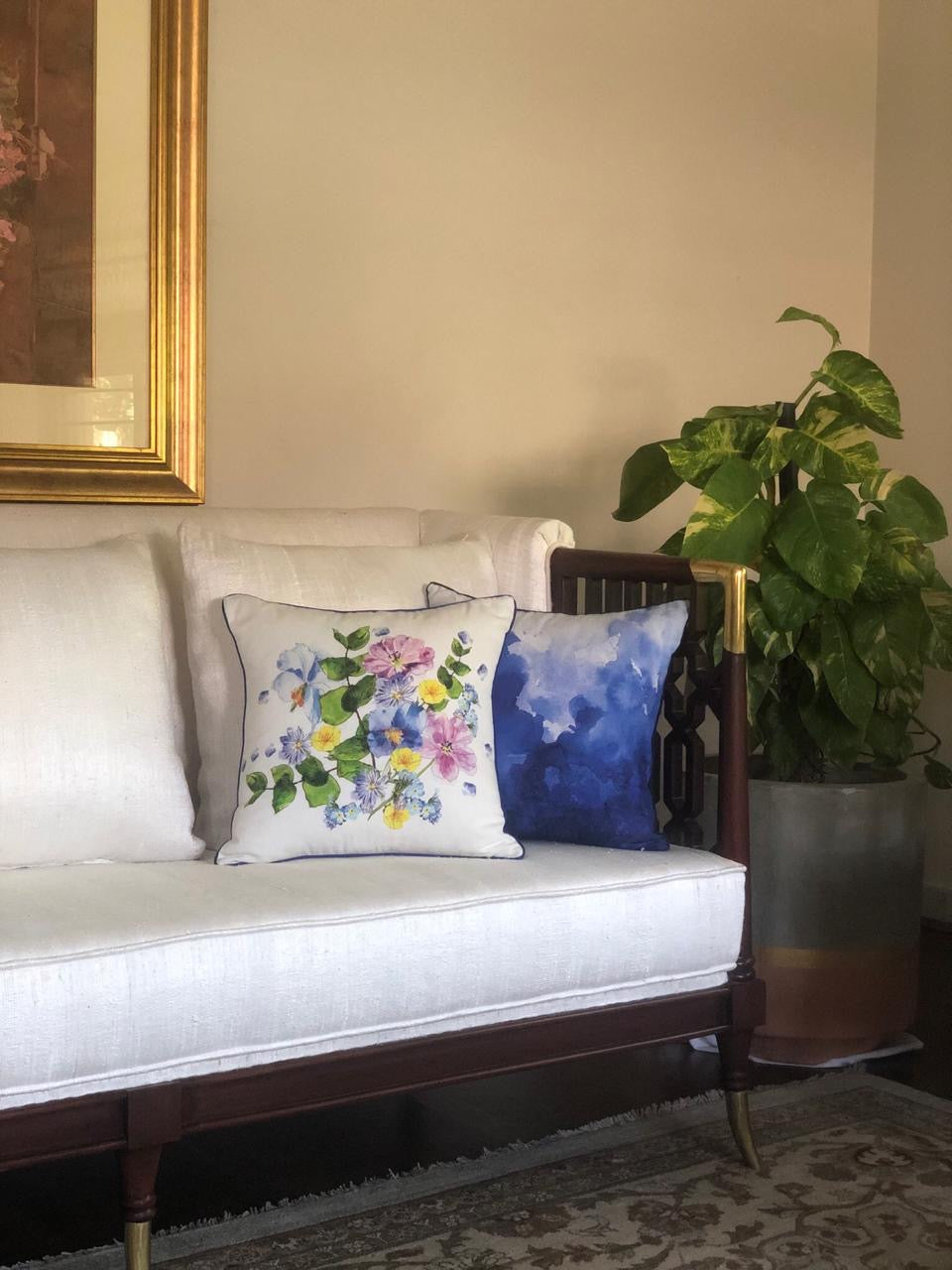 Mountain Flowers Cushion Cover