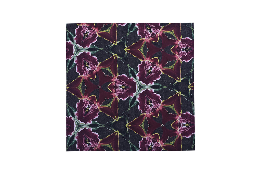 Midnight Orchid Dinner Napkin