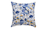 Blue Turmeric Cushion Cover