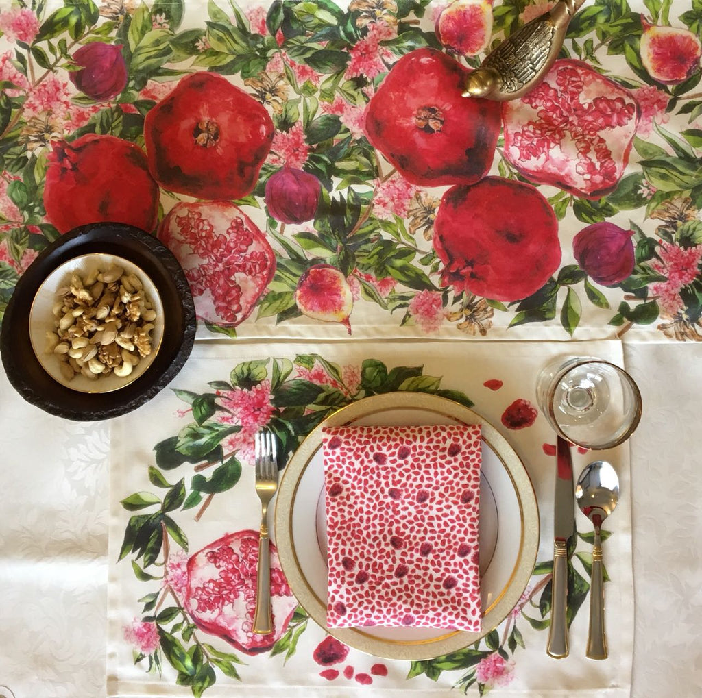 Signature Pomegranate Napkin