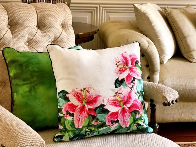 Stargazer Lily Cushion Cover