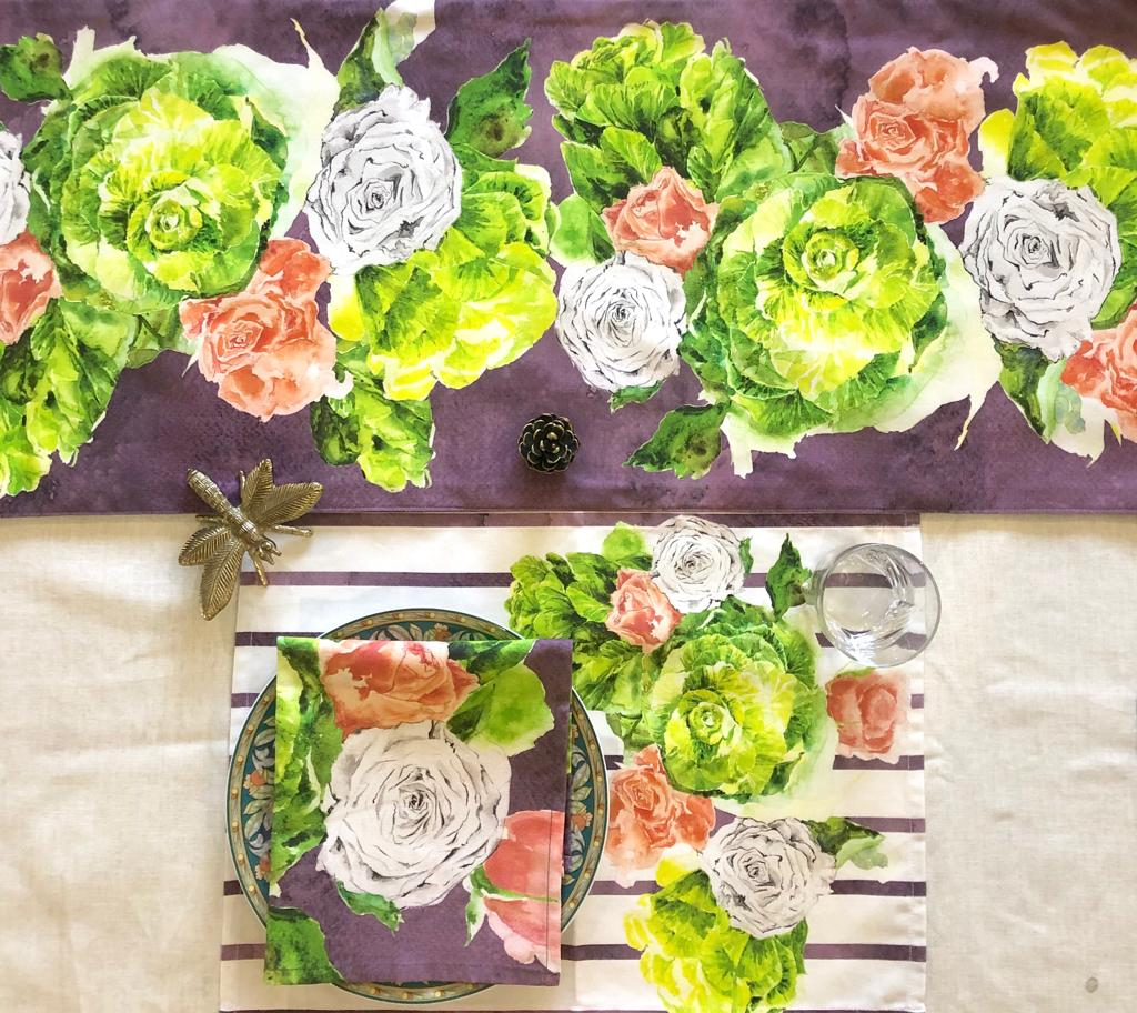 Midsummer Rose Napkin