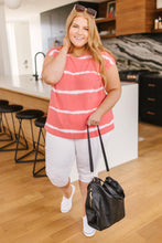 Load image into Gallery viewer, Casual In Stripes Top In Coral