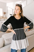 Load image into Gallery viewer, The Fanciful Flowing Top In Black