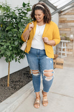 Load image into Gallery viewer, Acting Like A Lady Blazer in Mustard