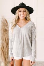 Load image into Gallery viewer, Amira Textured Top in Gray