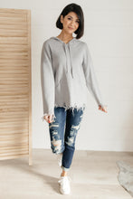 Load image into Gallery viewer, Frayed Edges Hoodie in Grey
