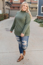 Load image into Gallery viewer, Plain Jane Turtle Neck Top in Cargo