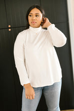 Load image into Gallery viewer, Plain Jane Turtle Neck Top in White