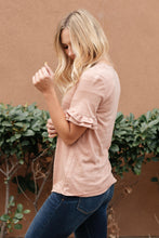 Load image into Gallery viewer, Rosy Ruffled Sleeve Top