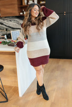 Load image into Gallery viewer, Sentimental Striped Tunic Dress in Burgundy