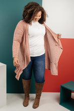 Load image into Gallery viewer, The Avalynn Heathered Cardigan in Crimson