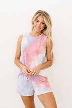 Load image into Gallery viewer, Watercolor Tie Dye Shorts In Pink