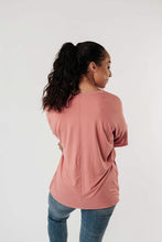 Load image into Gallery viewer, Top Stitch V-Neck In Dusty Rose