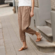 Big Pockets Comfy Natural Linen Pants