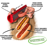 Hot Dog Slicing Tool for Crispy Seasoned Hot Dogs 🌭️