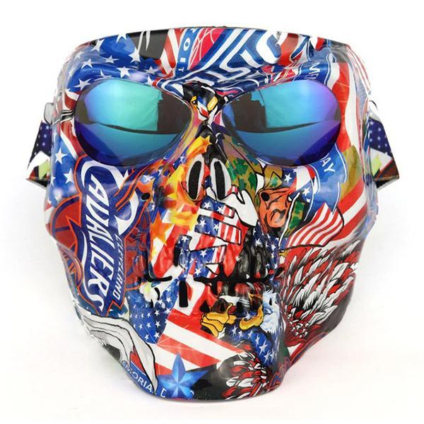Skull Mask | Motor Club Approved | Ship from USA | Buy 2 Sets Get Free Shipping
