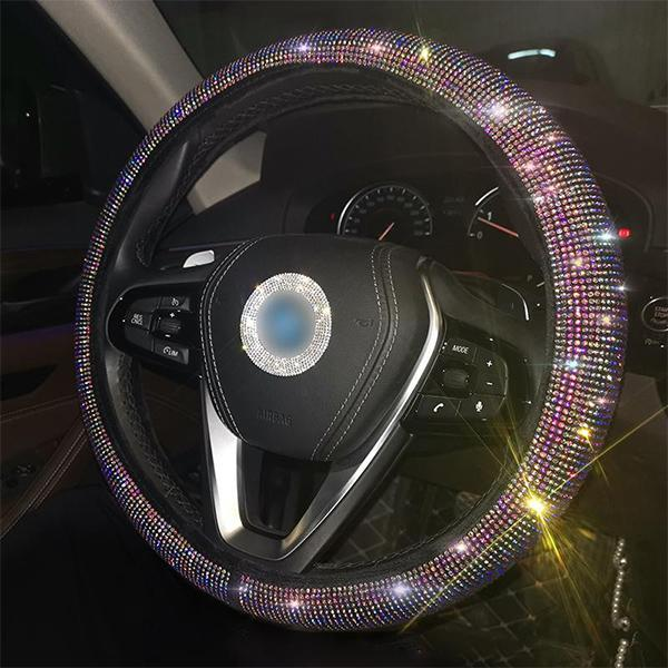Luxury Crystal Diamante Car Steering Wheel Covers
