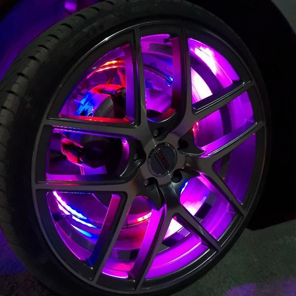 Million Color LED Wheel Neon Lighting Kit for Cars