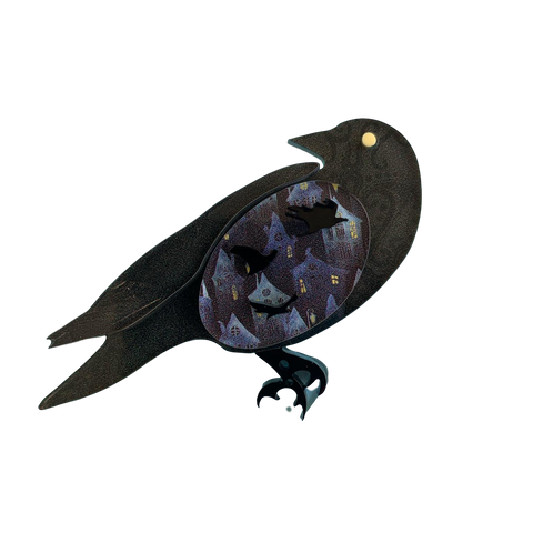 Rodger the Raven - Brooch