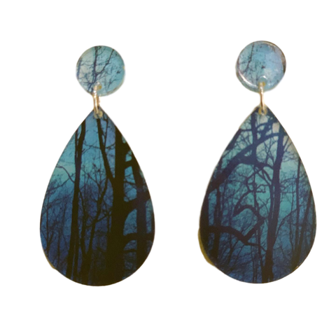 Dark Forest acrylic earrings