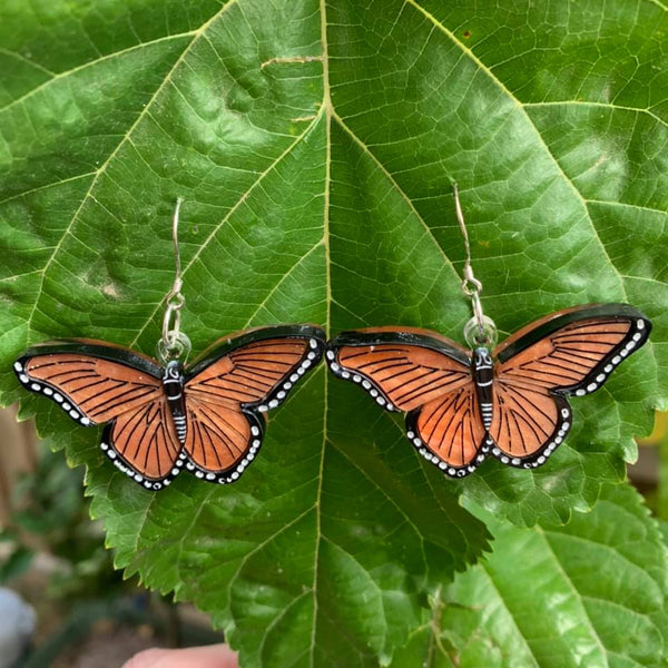 Orange Butterfly - Earrings