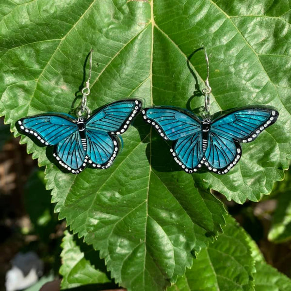 Blue Butterfly - Earrings