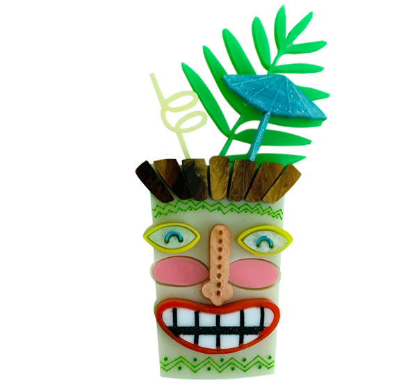 Tiki cocktail - Brooch
