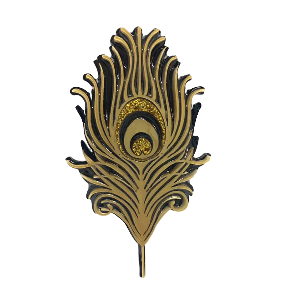 Golden Feather - Brooch