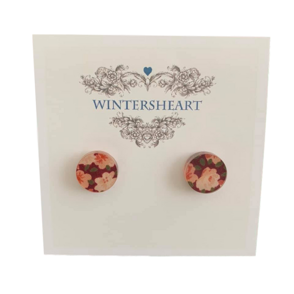 Patterned Fabric -  Stud earrings
