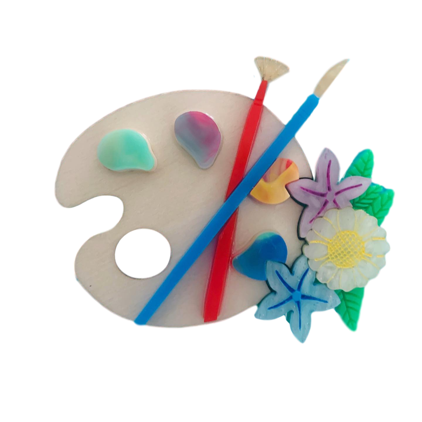 Painting brooch