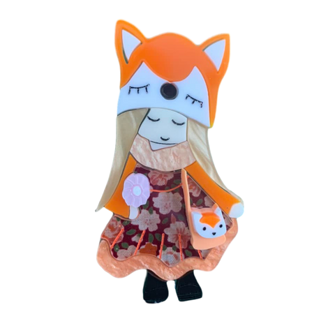 The Fox girl  🦊 brooch