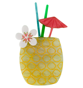 Pineapple Cocktail - Brooch