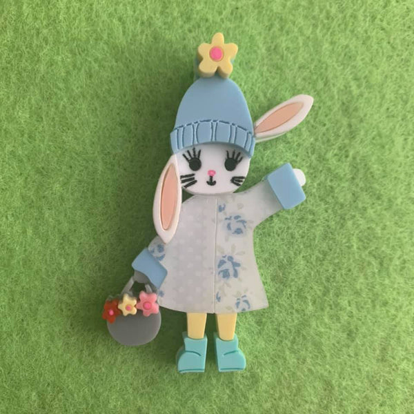 Megs - Easter Hat Parade Rabbit Brooch