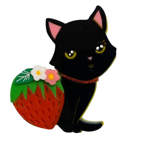 Black Strawberry Kitty