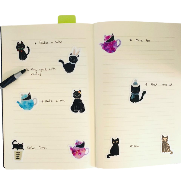 The Black Kitty series 1 - Sticker Collection