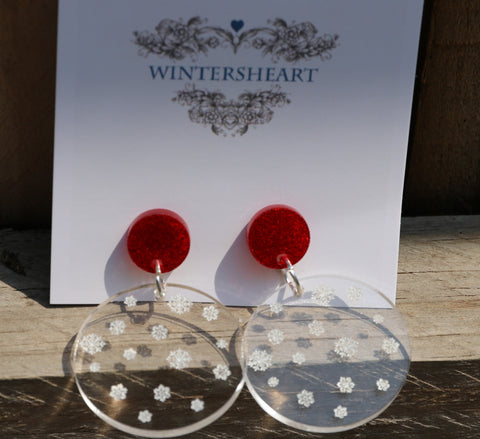 Snow Globe - Earrings