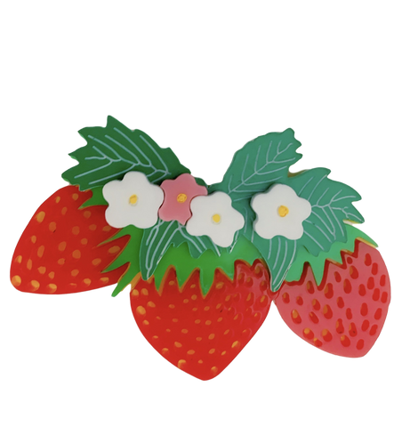 Strawberries - Brooch