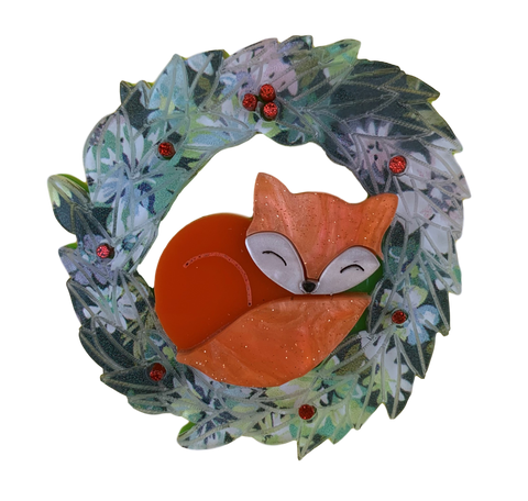 Abby Christmas Wreath - Brooch