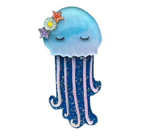 Bubbles the Jelly Fish - Brooch