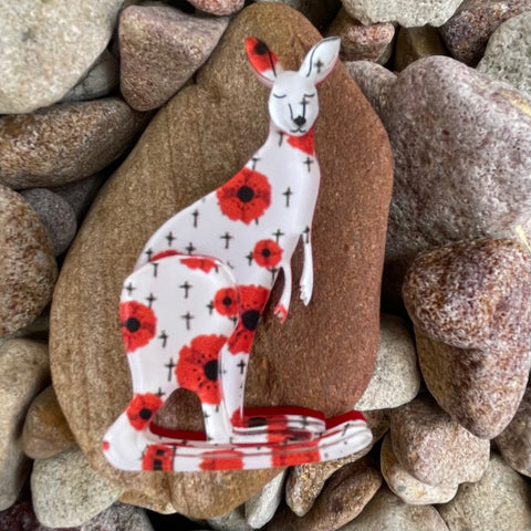 Poppy the Kangaroo - Brooch