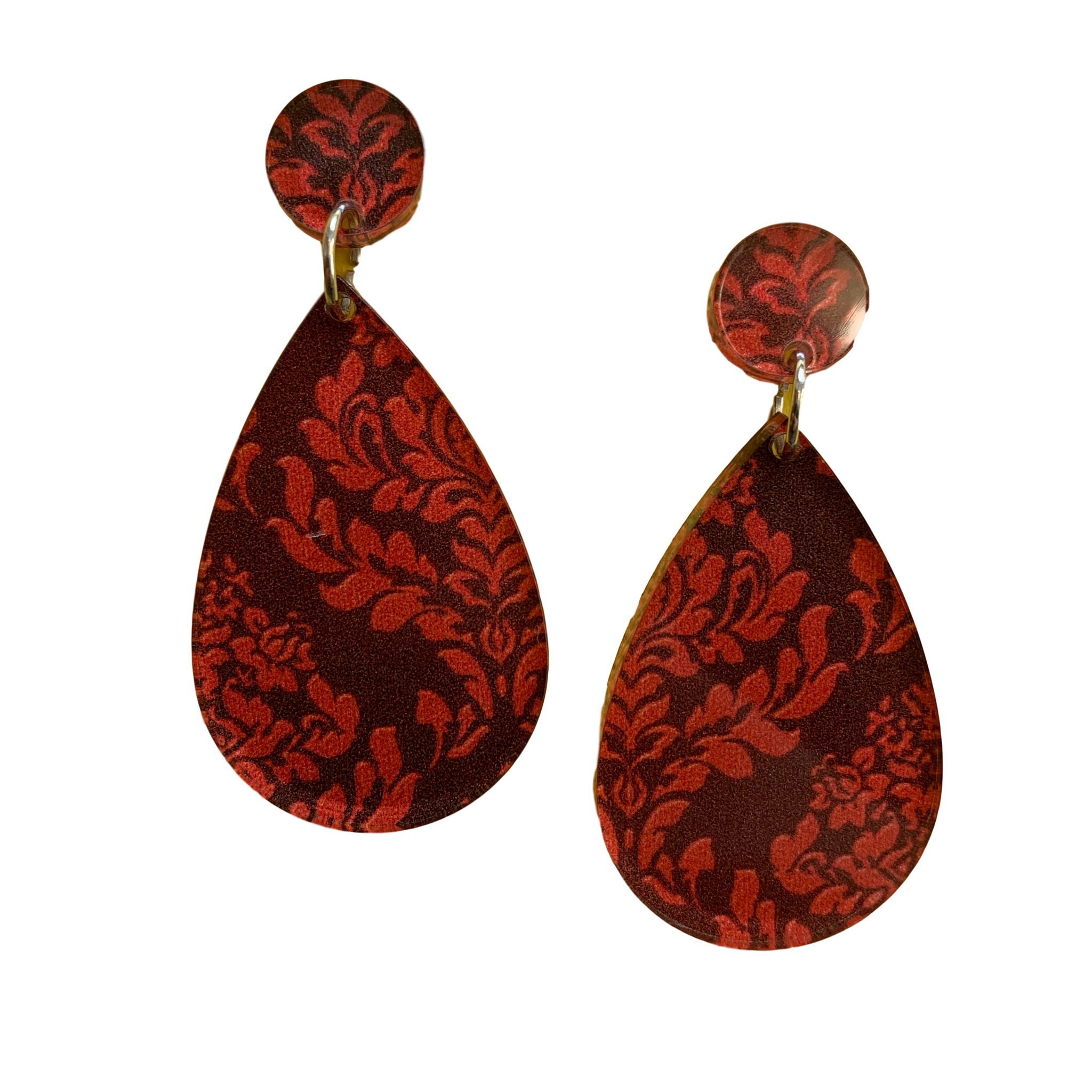 Red Halloween acrylic earrings