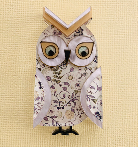 Regal Charles the Great horned owl - Brooch