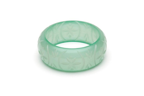 Wide Mint Sorbet Fakelite Bangle