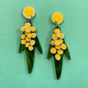 Golden Wattle - Drop Earrings