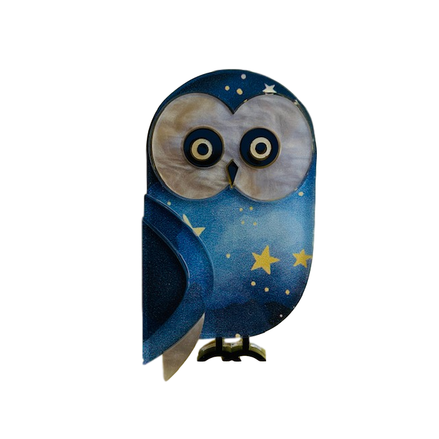Harriet the barn owl - Brooch