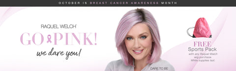 Free gift in October with any Raquel Welch purchase in support of breast cancer awareness month!